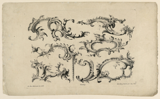 Print, Rocaille Motifs, from Set No. 169