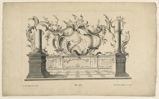Print, Rocaille Motifs and Dados, from Set No. 120