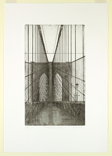 Print, Brooklyn Bridge, Plate 9, 1982