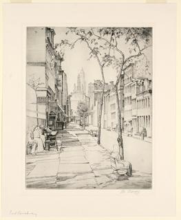 Print, East Broadway, ca. 1930s