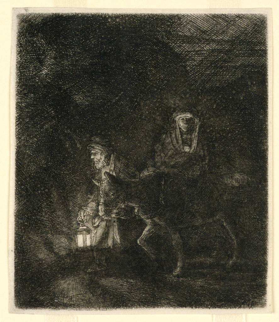 Print, The Flight Into Egypt: A Night Piece, 1651