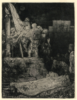 Print, Descent from the Cross by Torchlight, 1654