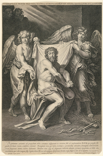 Print, Christ With the Instruments of the Flagillation Attended by Two Angels