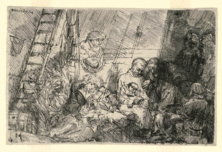 Print, The Circumcision in the Stable, 1654