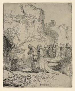 Print, Christ Carried to the Tomb, ca. 1645