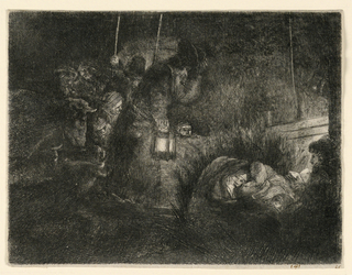 Print, The Adoration of the Shepherds: A Night Piece, ca. 1657