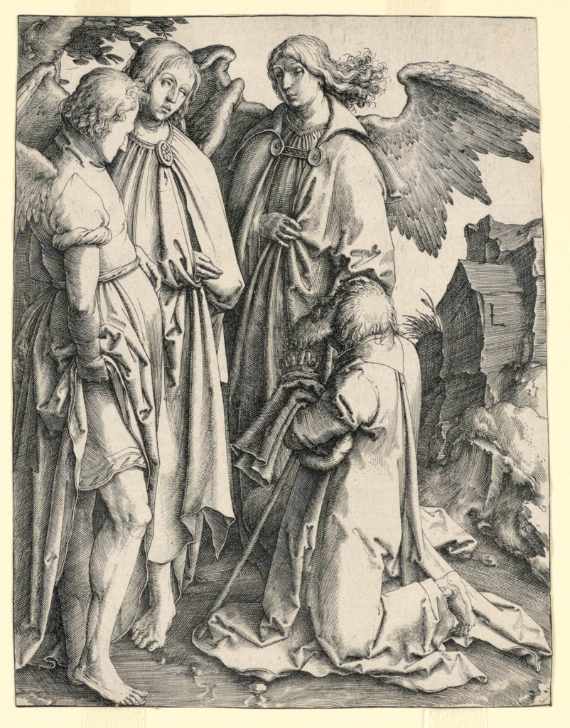 Print, Abraham and the Three Angels, 1513