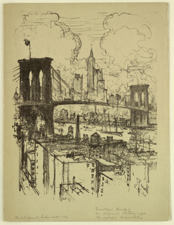 Drawing, Brooklyn Bridge