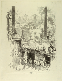 Print, From the Tops of the Furnaces