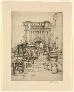 Print, Market Place, ca. 1925-30