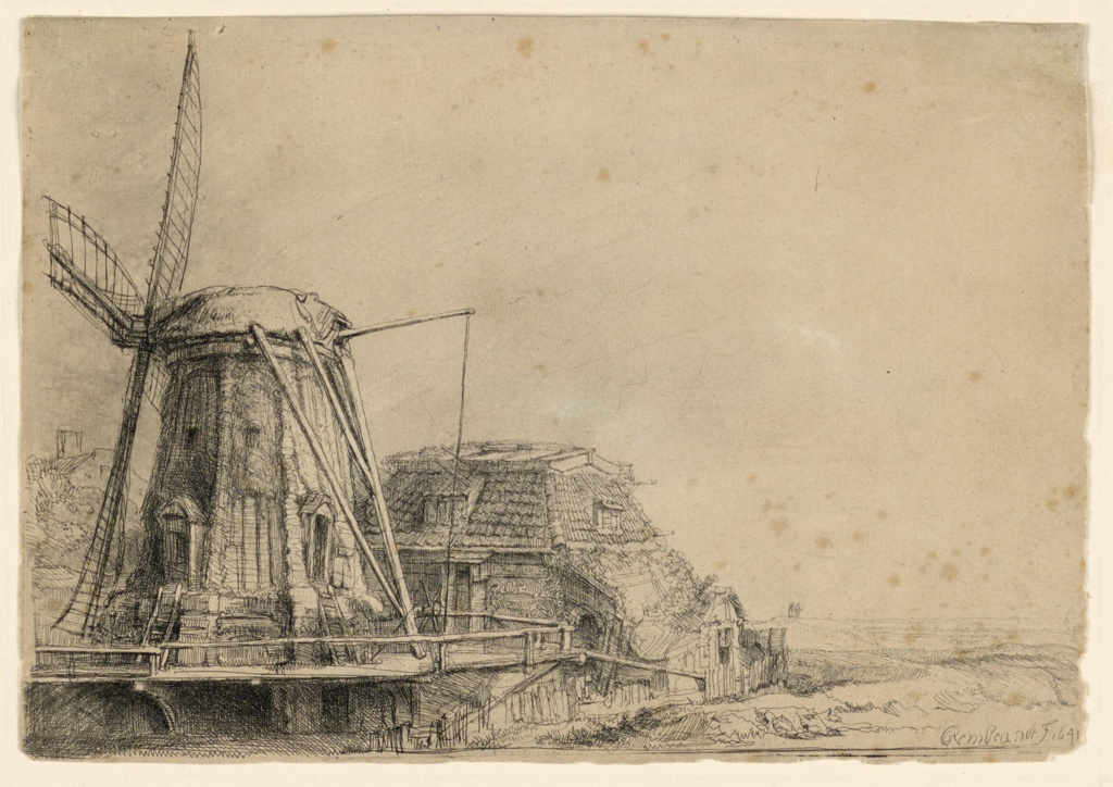 Print, The Windmill, 1641