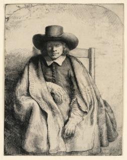 Print, Clement de Jonghe, Printseller, 1651