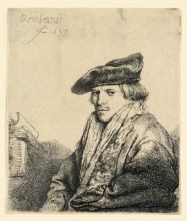 Print, Young Man in a Velvet Cap (Ferdinand Bol?), 1637