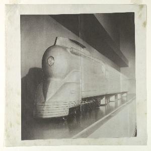 Photostat, Plasticine Wind Tunnel Model for a Streamlined K4s Class Locomotive, Pennsylvania Railroad