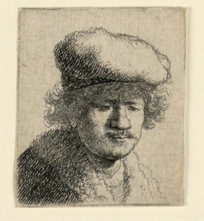 Print, Self Portrait with Cap Pulled Forward, 1630