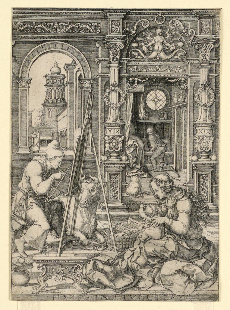 Print, St. Luke Painting the Portrait of the Virgin, 1526