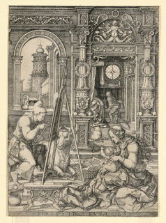 Print, St. Luke Painting the Portrait of the Virgin, 1526
