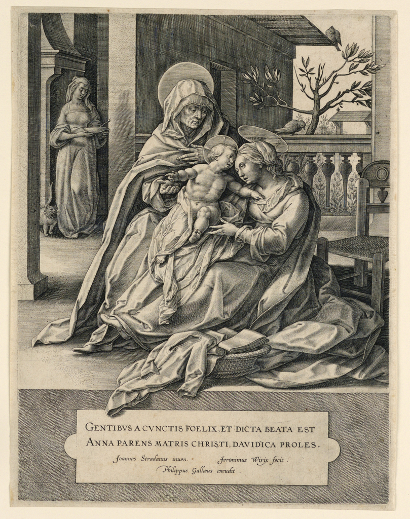 Print, St. Anne, the Virgin and the Christ Child
