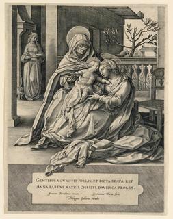 """Signed: """"Joannes Stradanus inuen. Jeronimus Wierix fecit. / Phillupus Gallaeus excudit."""""""