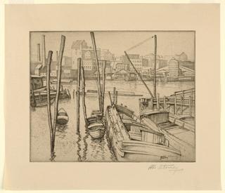 Print, East River, 1927
