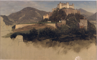 Drawing, The Castle at Salzburg, 1868