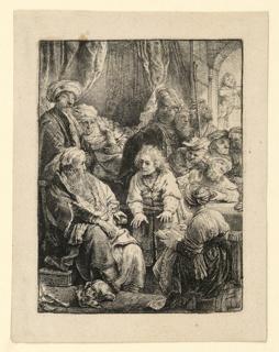 Print, Joseph Telling his Dreams, 1638