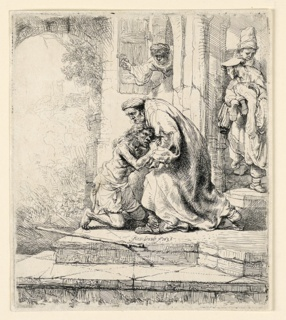 Print, The Return of the Prodigal Son, 1636
