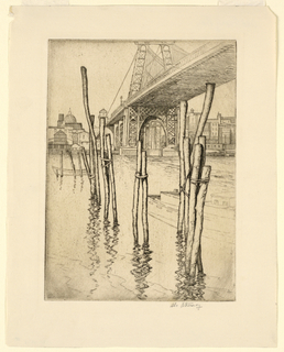 Print, Old Ferry Pier, ca. 1925