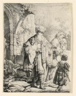 Print, Abraham Casting Out Hagar and Ishmael