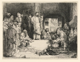 Print, Christ Preaching, ca. 1652