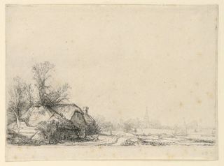 Print, Cottage Beside a Canal, A View of Diemen, ca. 1641