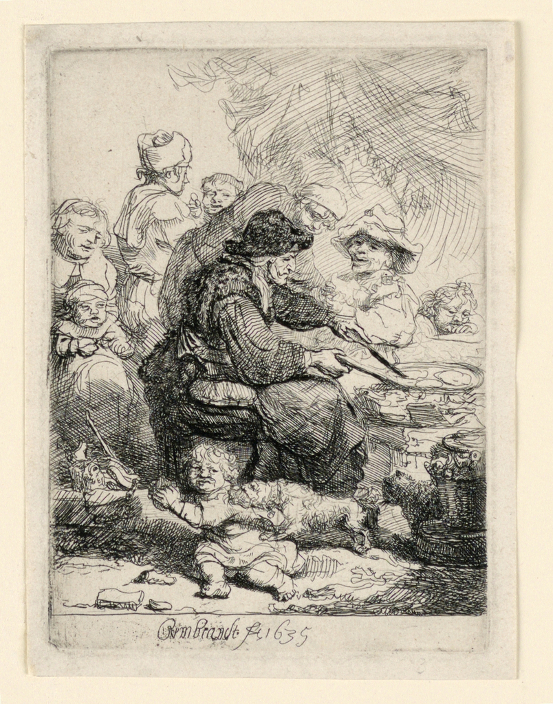 Print, The Pancake Woman, 1635