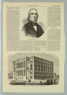Print, The Cooper Union for the Advancement of Science and Art, March 30, 1861