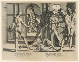 "Print, The Beheading of the Roman Judge Papinian, Plate 5 from ""Thronus Justitiae"""