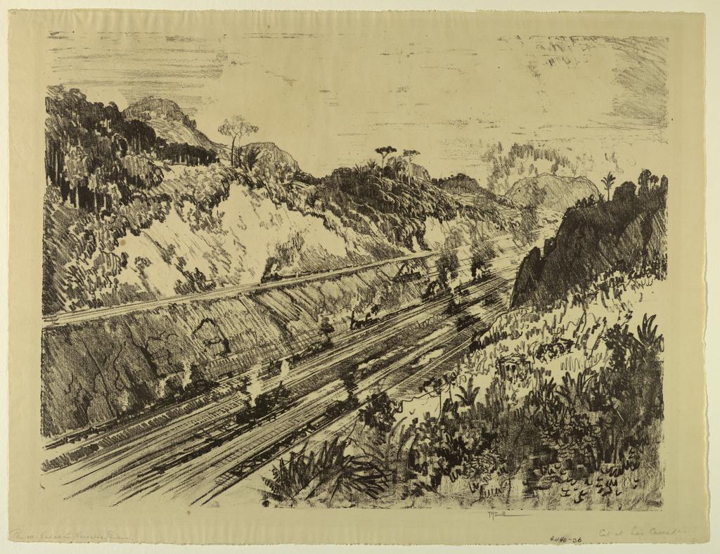 Print, Cut at Los Cascades, Panama
