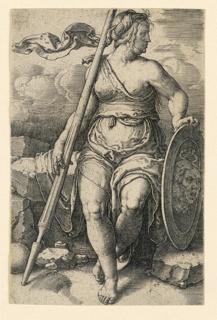 Print, Pallas Athena (Minerva), ca. 1530