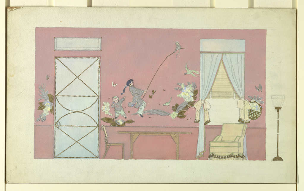 Drawing, Design for Knitted Stockings, 20th century