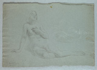 "Drawing, Study for ""Mercy's Dream"", 1857"