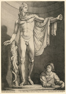 Print, Apollo Belvedere (Apollo Pythius), ca. 1592–1617