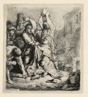 Print, The Stoning of St. Stephen
