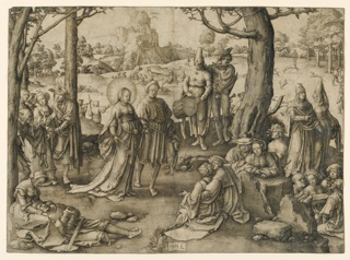Print, The Dance of St. Mary Magdalene, 1519