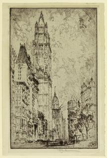 Print, Woolworth Building, New York