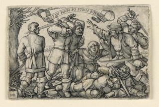 Print, The Peasants' Brawl, ca. 1540