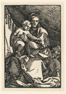 Print, Madonna and Child, ca. 1535