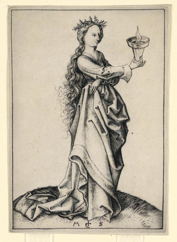 Print, The Third Wise Virgin, ca. 1490