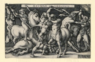 Print, Hercules Fighting the Centaurs, 1542–48