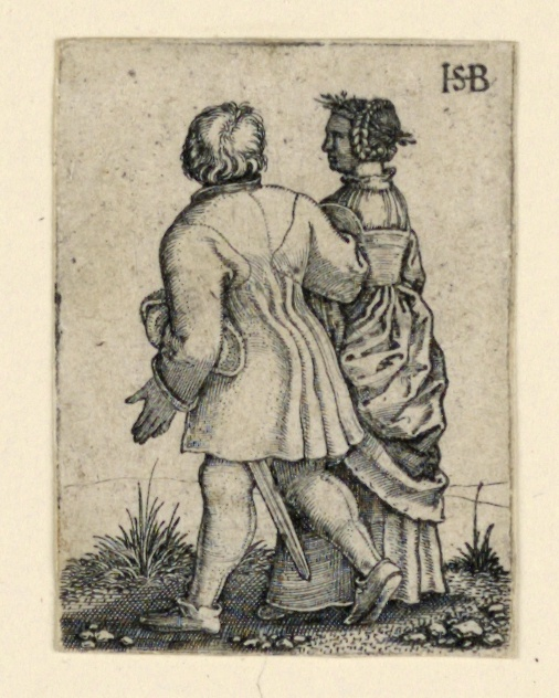 Print, The Wedding Procession: Couple walking left, facing away