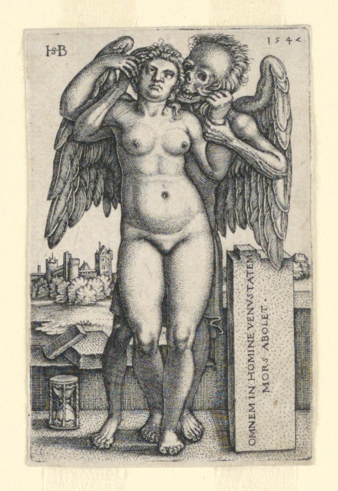 Print, Death and the Standing Nude Woman, 1547