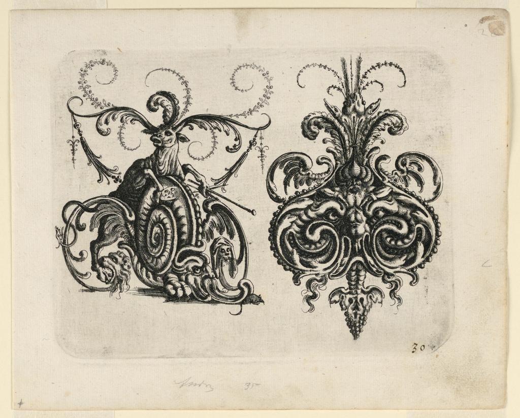 Print, Plate 30, from Neüw Grotteßken Buch (New Grotesque Book)