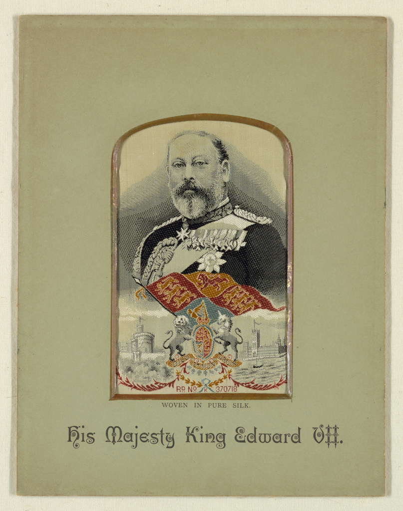 Woven portrait of King Edward VII.